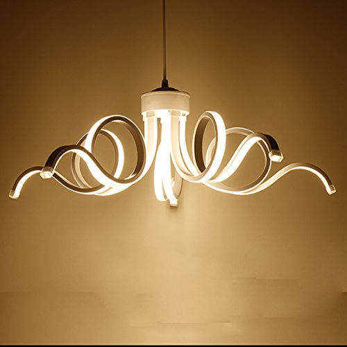 LightInTheBox Modern Chandelier Pendent Light LED Lamp Curl Style for Hallway,Bedroom,Kitchen,Kids Room (Warm White)