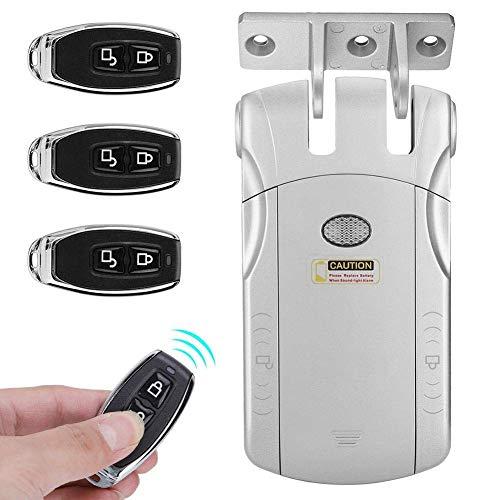 Sicurezza domestica telecomando senza chiave invisibile con serratura elettronica telecomando touch locked & unlock(Argento + USB Bluetooth)