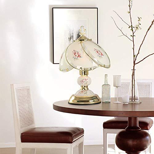 SXFYHXY LED-Tisch-LLampe Touch Dimming Simple Study Room Schlafzimmer für die Innenbeleuchtung,Gold,23X37CM