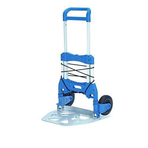 Fetra 1735 Faltkarre, Schaufel 595 x 450 mm, ABM. zusammengeklappt B x T x H 660 x 135 x 855 mm, Traglast 250 kg, silber/blau