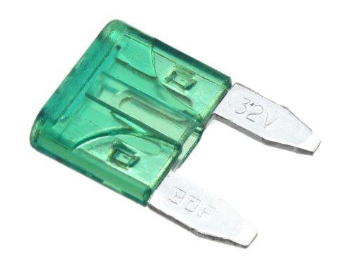 BEGADI Mini Stecksicherung 30A - grün (z.B. passend für ICS M4 Modelle oder Systema PTW Airsofts)