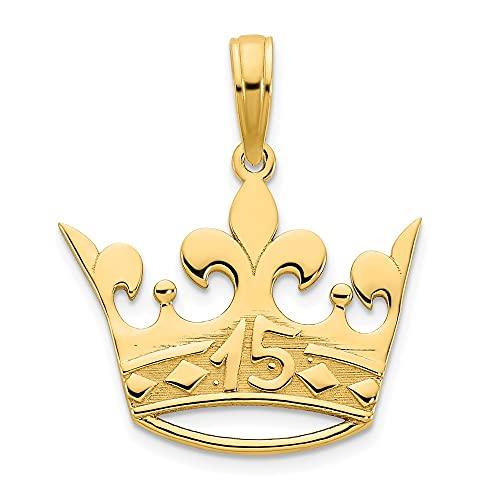 Collar con colgante de corona de oro de 14 quilates y 15 regalos para mujeres