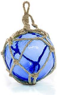 Glas-Fischer-Schwimmer | Kobaltblaue japanische Glasposen 12