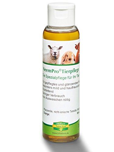 NeemPro Tierpflege 100 ml für gepflegtes Fell Haustier Hund Shampoo mit Margosaextrakt Neem ohne Auswaschen