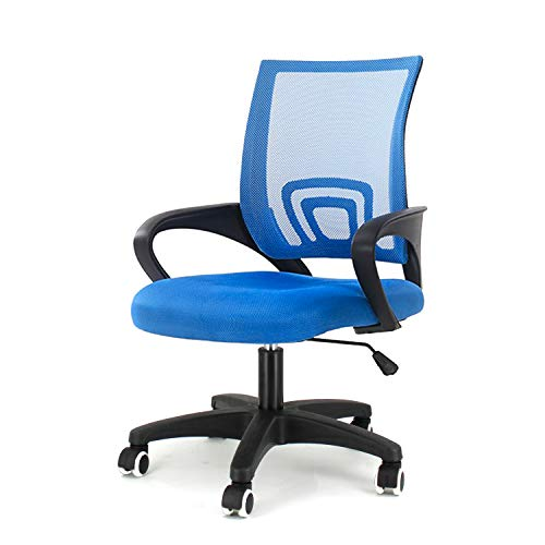 EUCO Blue Desk Chair Executive Adjustable Computer Chair Office Chairs With Arms Office Swivel Chair Ergonomic