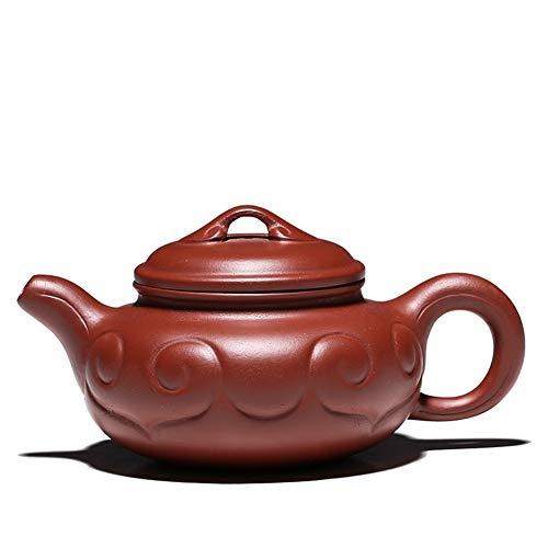 LPLHJD Tetera Yixing Zisha Pot Famoso Hecho a Mano Boutique Orion Dahongpao Ruyi Tetera Antigua Kung Fu Juego de te (Color : Big Red Pouch)