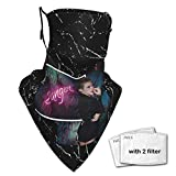 Viohik Unisex Balaclava Miley Cyrus Bangerz Face Mask Bandana Adjustable Earloop Mouth Face Cover for Adult with 2 Filter Medium