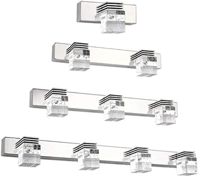QZz Home Hohe Leistung LED-Spiegel-Frontseiten-Licht-moderne minimalistische Badezimmer-helle Kristalllampen-Schlafzimmer-Badezimmer-Beleuchtung-dekorative Wand-Lampe (Farbe   Warmwei-45 cm)