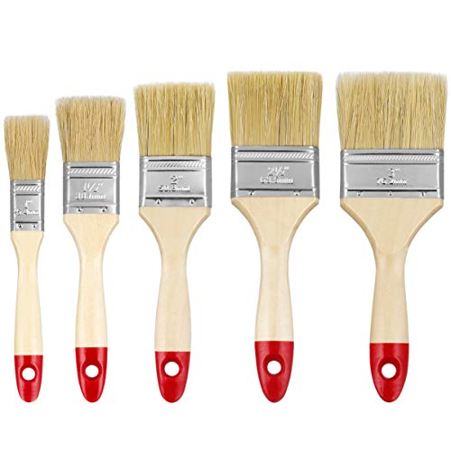 Supvox Chip Pinsel Haushalts Borsten Pinsel Set für Wand Möbel Zaun Handwerk 10 Stücke