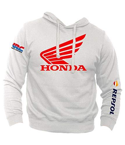 Felpa Personalizzata Honda Vintage Racing HRC Moto GP Repsol Motors Marquez MM93 Sport Senza Tascone
