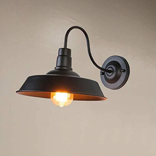 Loft luces de la lámpara de pared del almacén, la puerta de la habitación Restaurante Bar Cafe luces del pasillo pasillo balcón,Black