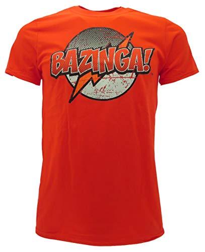 T-Shirt Bazinga! Originale The Big Bang Theory Prodotto Ufficiale Rossa (XS (12-13anni))