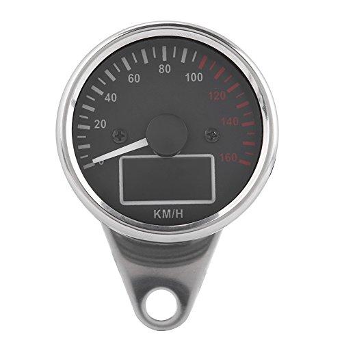 Velocímetro de motocicleta, Universal 0~160 KM/H, velocímetro LCD digital LED para motocicleta, tacómetro, indicador de velocidad, cromo retro