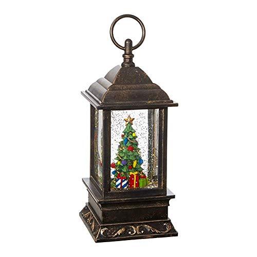 RAZ Imports 9.5' CHRISTMAS TREE LIGHTED WATER LANTERN,Bronze,4' x 9.5'