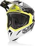 Acerbis Steel Carbon Casco Motocross Nero/Giallo S (55/56)