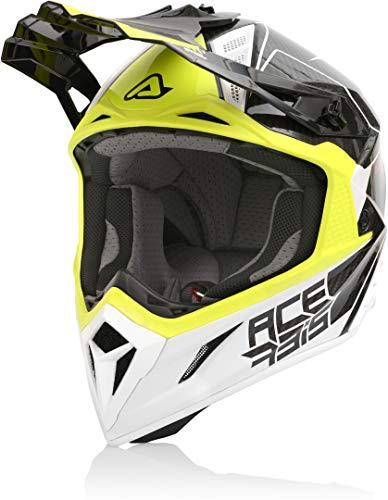 Acerbis Steel Carbon - Casco de motocross negro/amarillo S (55/56)