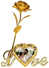 DSD Golden Foil Rose Flower with Beautiful Photo Frame