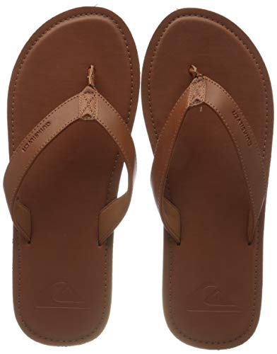 Quiksilver Molokai Nubuck II, Zapatos de Playa y Piscina Hombre, Marrón (Tan/Solid Tkd0), 45 EU