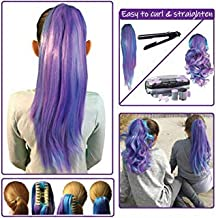 Color Hair Extensions for Kids - Temporary & Not Messy like Hair Chalk - Great Birthday Gift for Kids 4-12, Girls & Teens (16