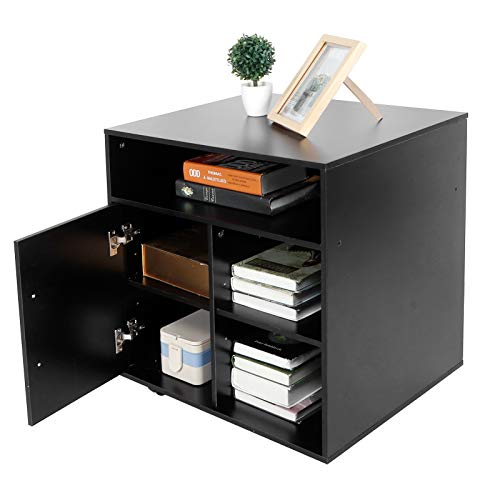 Mobiler Schrank für Drucker, 3 Schichten, 5, offene Druckerhalterung für Büro zu Hause, mobiler Ordner, ca. 60 x 50 x 67 cm
