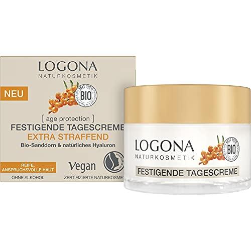 LOGONA Naturkosmetik Anti-Aging Gesichtscreme mit Bio-Sanddorn & Hyaluron für reife, anspruchsvolle...