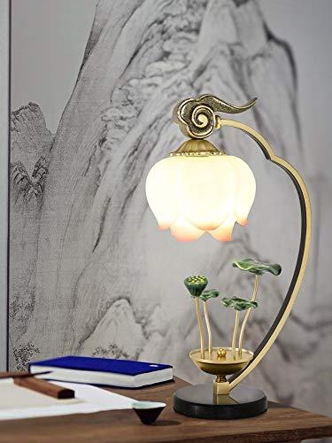 Lámpara de Mesa NUEVO Lámpara de mesa de loto chino País Viento Decoración Sala de estar Sala de estar Dormitorio Lámpara de mesa de noche Luz de Lotus Zen Lotus Iluminación de Interior ( Color : B )