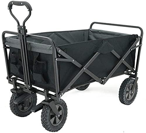 Multifunktionell vagnvagn, bärbar hopfällbar rullvagn med bromshjul, för utomhus camping Gard (fällbar utomhusvagn)