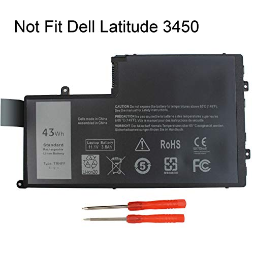Gomarty TRHFF Notebook Battery for DELL Inspiron 5447 5545 5547 5548 N5447 N5547 15-5000 Series i5547-3750sLV Latitude 15 3550 DL011307-PRR13G01 1V2F6 01v2f6 0PD19 P39F 11.1V 43WH