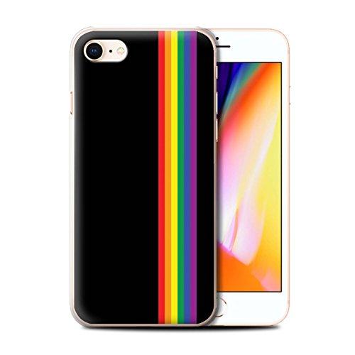 Stuff4 Hülle/Hülle für Apple iPhone SE 2020 / Gleichheits-Streifen Muster/LGBT Gay Pride Kunst Kollektion
