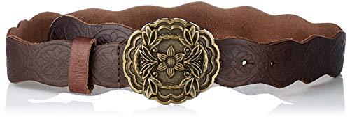 Pepe Jeans Rossi Belt Cinturón, Marrón (899), Large para Mujer