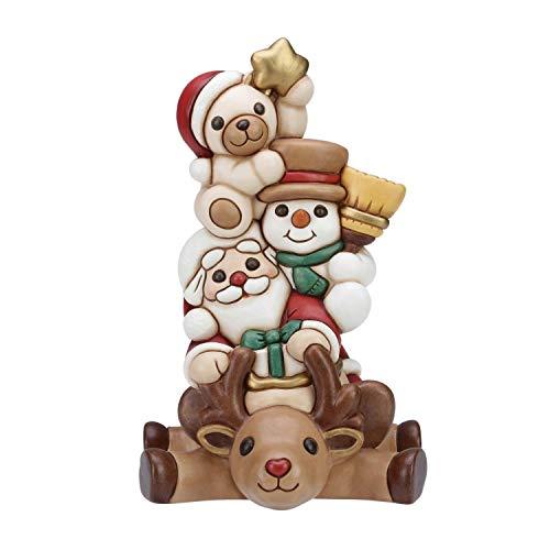 THUN Eroi Renna, Babbo Natale, Pupazzo di Neve e Teddy, Ceramica, 32,5 cm