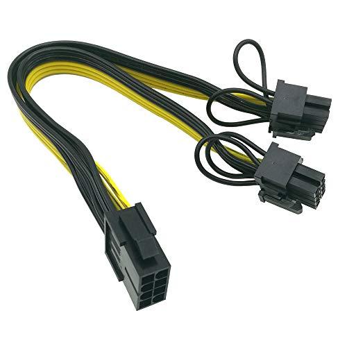 CPU a GPU) CPU 8 pin femmina a doppio PCIe 2 x 8 pin (6+2) maschio cavo splitter adattatore di alimentazione per scheda grafica BTC Miner 9 pollici (23 cm) (confezione da 2) COMeap