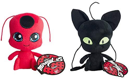 Miraculous: Tales of Ladybug & Cat Noir ~ TIKKI & PLAGG Plush Set ~ Adrien Marinette Stuffed Animal Doll 2Pcs/Set