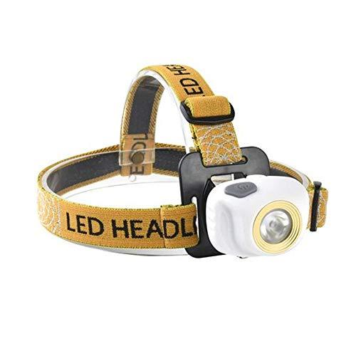 Linterna frontal LED, mini faro exterior, resistente al agua, para caza