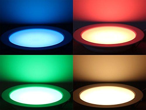 LEDPLAY RGBW Warmweis LED Downlight Panel Ø178mm Dimmbar, Deckenleuchte Deckenlampe Stimmungslicht für Wohnzimmer Badezimmer Schlafzimmer & Kinderzimmer