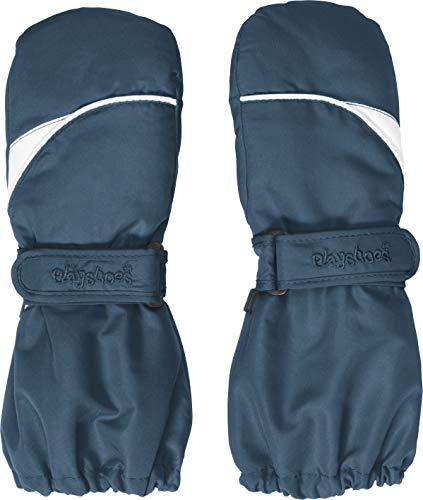 Playshoes Kinder-Unisex Fäustling warme Winter-Handschuhe mit Klettverschluss, Marine, 2