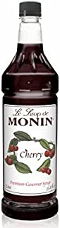 Monin Flavored Syrup, Cherry, 33.8-Ounce Plastic Bottle (1 liter)