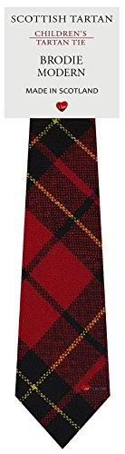 I Luv Ltd Garçon Tout Cravate en Laine Tissé et Fabriqué en Ecosse à Brodie Modern Tartan