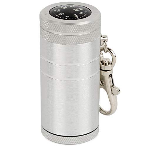 WINDMILL(ウインドミル) 携帯灰皿 フィールドマックス5000 スライド式 アルミ製 コンパス付き シルバー 582...