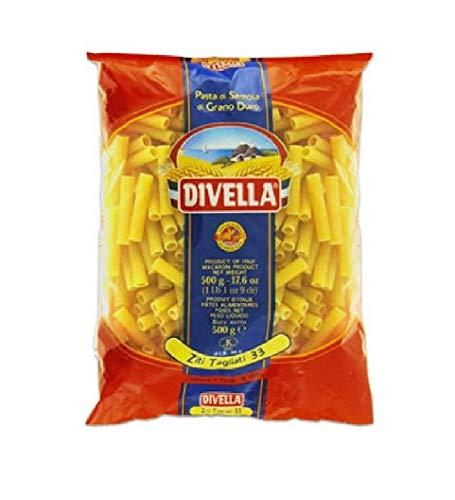 10x Pasta Divella 100% Italienisch N° 33 Ziti Tagliati 500g