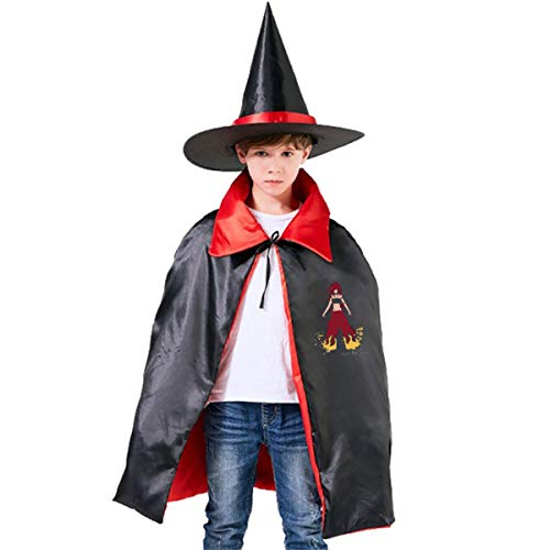 NUJSHF Erza Scarlet Spirit Fairy Tail Unisex Kinder Kapuzenumhang Umhang Umhang Umhang Cape Halloween Party Dekoration Rolle Cosplay Kostüme Outwear