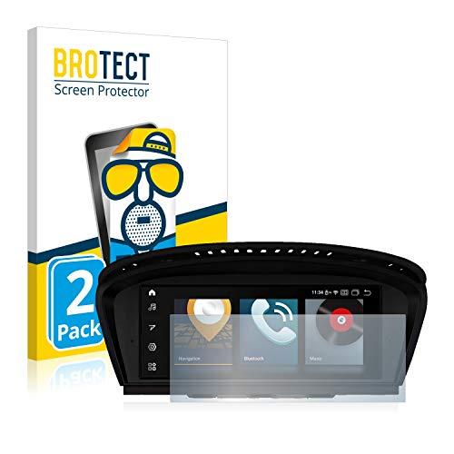 BROTECT 2X Entspiegelungs-Schutzfolie kompatibel mit BMW 5 E61 2005 Infotainment System 8.8