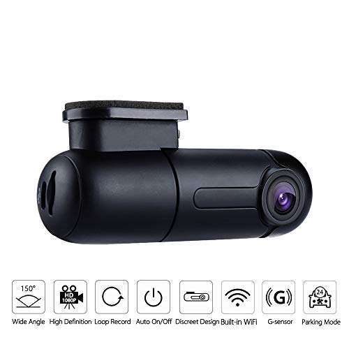WiFi Mini Dash Cam Sony Sensor Full HD 1080p Car Camera 150° Wide Angle with Super Capacitor Vehicle Driving Video Recorder 360° Rotatable Lens G-Sensor Loop Recording Parking Mode Blueskysea B1W