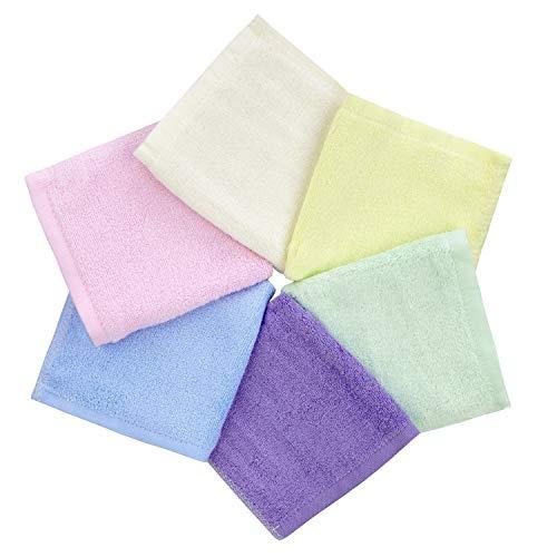 Ko&Pro Hygienische Bambus Tücher   6x Waschlappen 25x25 cm   Inklusive Zwei Reinigerrezepte   Allzwecktücher Babywaschlappen Abschminktücher Reinigungstücher Gästehandtücher