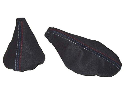 Für BMW E301982–1991Gear & Handbremsmanschette schwarz Alcantara MPOWER Naht