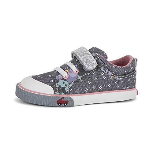 See Kai Run, Kristin Sneakers for Kids, Gray Denim Mix, 4 M US Toddler