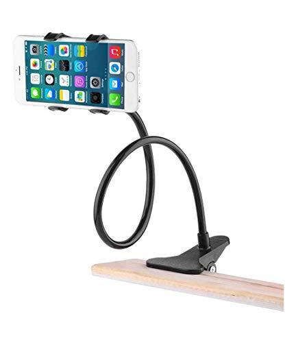 Suporte para Smartphone e Tablet Vivitar com rotação 360° e haste flexível para fixação em mesa – Preto