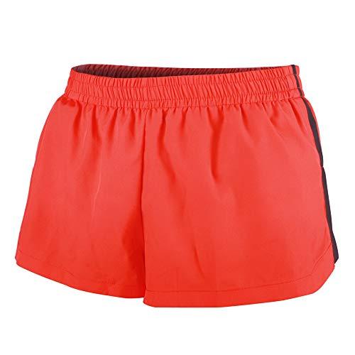 GYMAPE Hombre Sports 1'Elite Split Contrast Running Shorts de Secado rápido Ligero 100% poliéster