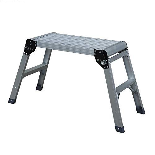 GUOXY Multifunktions-Verlängerungsleitern Folding Stufenleiter Steigleiter Autowaschtisch Thick-Leiter Aus Aluminium, Convenient Angeln Fußbank,91.5X30X50Cm,91.5X30X50Cm