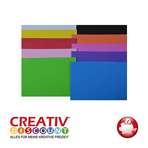 CREATIV DISCOUNT® NEU Moosgummiplatte, 29 x 20mm, 10Stk., Bunt